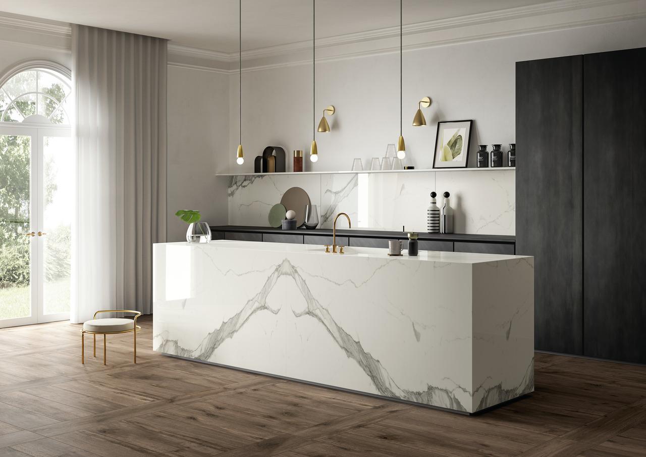 Calacatta Statuario Kitchen Countertop And Worktop Sapienstone